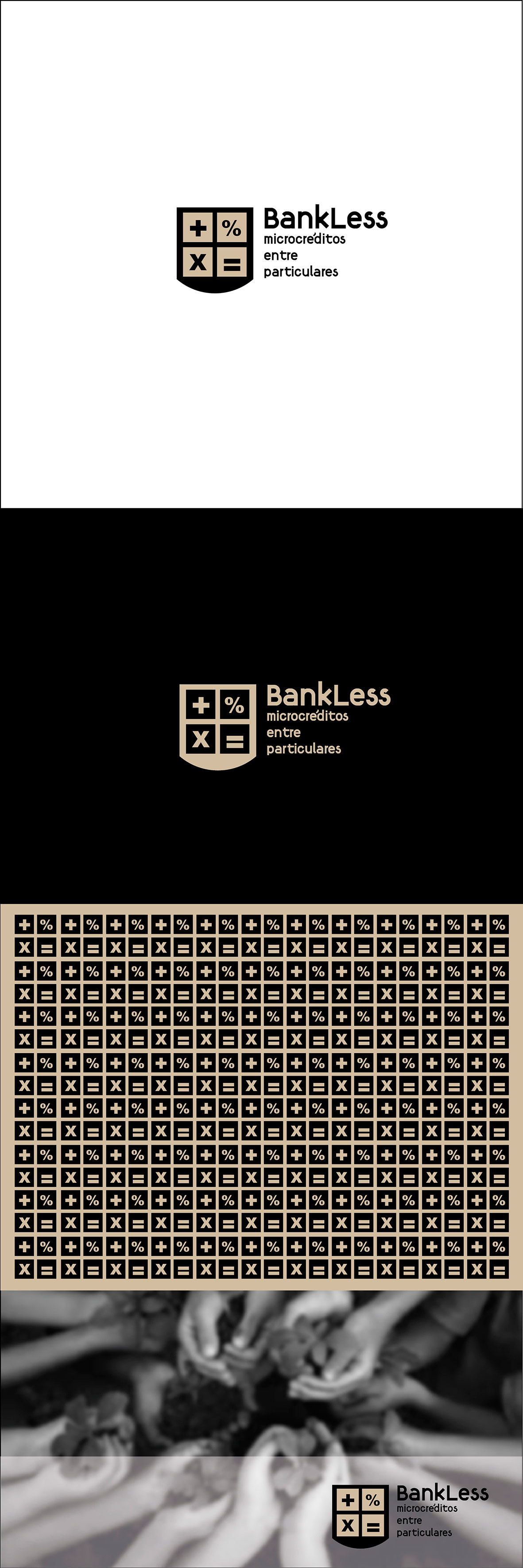 Carteleria e imagen Bankless, microcréditos entra particulares