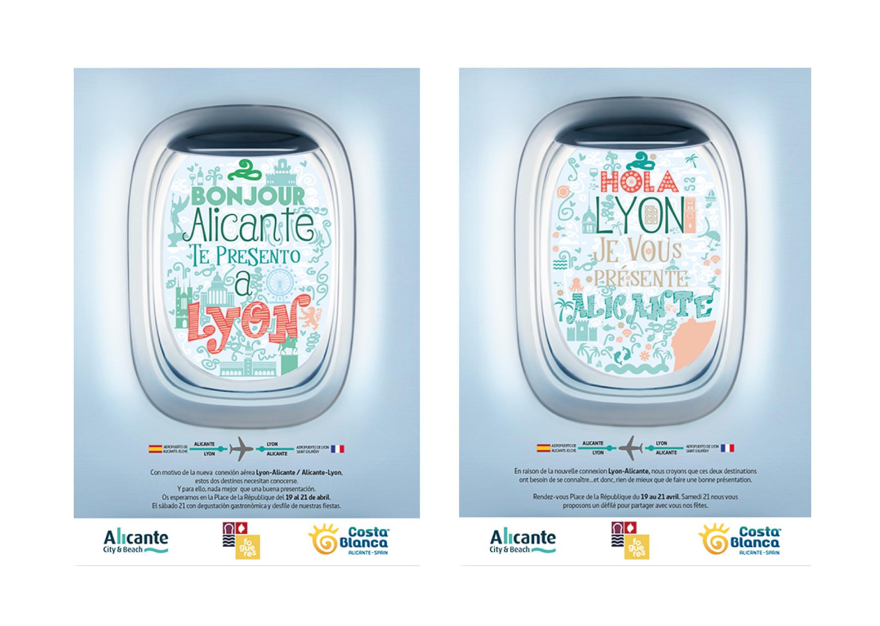 Diseño de campaña nuevo destino Lisboa - Alicante