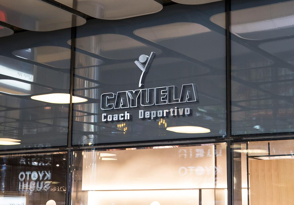 Imagen de marca, rotulo Cayuela, Coach Deportivo